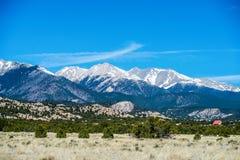 Взгляды перспективы скалистых гор Колорадо стоковое фото rf