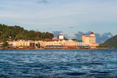 Взгляды портового района Jayapura стоковые фото