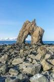Взгляды свода моря исландские стоковая фотография rf