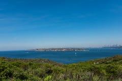 Взгляды Сиднея от северной головы, мужественные, Австралия Стоковые Изображения