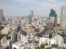 Взгляды токио от смотровой площадки Стоковое Фото
