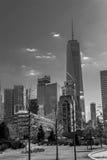 Взгляды финансового района от Tribeca (NYC) Стоковое фото RF