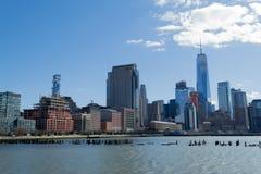 Взгляды финансового района от Tribeca (NYC) Стоковое Фото