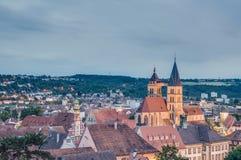 Взгляды Esslingen am Neckar от замока, Германии Стоковые Изображения RF