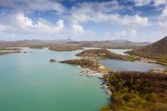 Взгляды St Марты Groot вокруг острова Curacao карибского стоковое фото