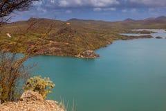 Взгляды St Марты Groot вокруг острова Curacao карибского стоковые изображения rf