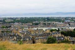 Взгляд Эдинбурга от холма Calton Стоковая Фотография RF