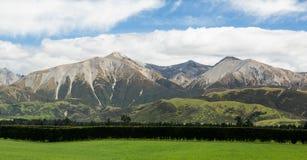 Взгляд южных Альпов Новой Зеландии Стоковое Изображение