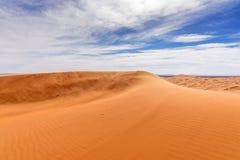 Взгляд дюн Chebbi эрга в пустыне Morroco- Сахары Стоковые Изображения RF
