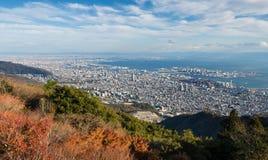 Взгляд японских городов в области Kansai от Mt maya Стоковые Фотографии RF