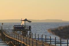 Взгляд ‹â€ ‹â€ моря с длинным мостом для того чтобы очаровать шейха el Стоковое фото RF