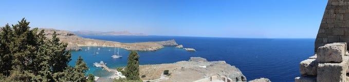Взгляд Akropolis panoramatic моря Стоковые Изображения