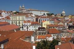 Взгляд Alfama - Лиссабона Стоковое Изображение RF
