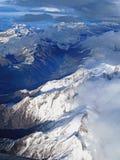 Взгляд Arial швейцарских Альпов стоковое изображение