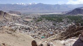 Взгляд Ariel города Leh Стоковое Фото