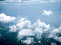 Взгляд Ariel облаков и неба Стоковая Фотография RF