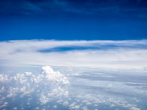 Взгляд Ariel облаков и неба Стоковая Фотография