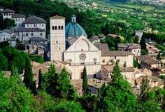 Взгляд Assisi стоковые изображения