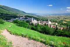 Взгляд Assisi стоковое фото rf