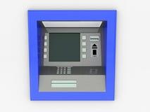 Взгляд ATM в изолированной белой предпосылке Стоковое Фото
