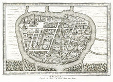 Взгляд Ayutthaya Judia Таиланда - 1750 Стоковые Изображения RF