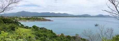 Взгляд Barra da Lagoa панорамный Стоковые Изображения