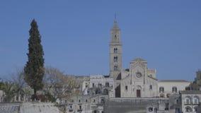 взгляд basilicata Италии matera сток-видео