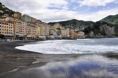 Взгляд Camogli - Италия Стоковое Изображение