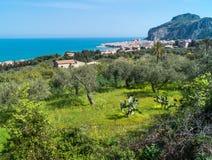 Взгляд Cefalu, Сицилии стоковая фотография