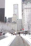 Взгляд Central Park после шторма снега Стоковая Фотография