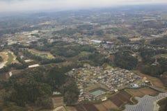 Взгляд Chiba на самолете Стоковые Изображения RF