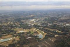 Взгляд Chiba на самолете Стоковое Изображение RF