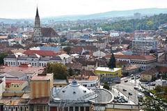 Взгляд Cluj Napoca от Cetatuie Стоковые Фото