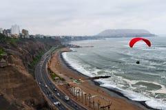 Взгляд costline Miraflores - Лимы - Перу Стоковые Изображения