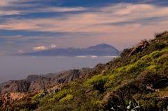 Взгляд El Teide Volcan в Тенерифе Стоковые Изображения RF