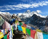 Взгляд everest - Непала Стоковая Фотография RF