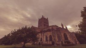 Взгляд f аббатства Tewkesbury южный стоковое фото rf