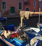 Взгляд fisherboats, Chioggia Стоковые Изображения RF