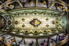 Взгляд Fisheye потолка собора Сент-Луис Стоковая Фотография