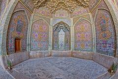 Взгляд fisheye украшения мечети al-Mulk Nasir Стоковые Фото
