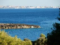 Взгляд Gallipoli от Порту Selvaggio стоковое изображение rf