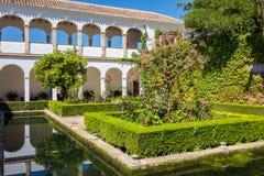 Взгляд Generalife садовничает в Альгамбра в Гранаде в Испании Стоковое Изображение RF