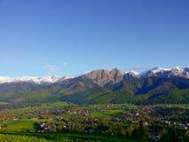 Взгляд Giewont от горы Gubalowka Польши Zakopane Стоковое Изображение