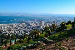 взгляд haifa Стоковые Фото