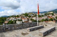 Взгляд Herceg Novi от стен конематки сильной стороны, Черногории Стоковое Изображение RF