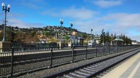 Взгляд Hillsdale от станции caltrain Belmont стоковая фотография