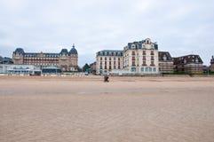 Взгляд Houlgate в отделе Кальвадоса Франция Нормандия Стоковое Изображение