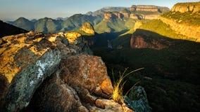 Взгляд II каньона реки Blyde Стоковые Изображения RF