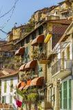 Взгляд Imperia Apricale, Лигурия улицы, Италия Стоковое фото RF