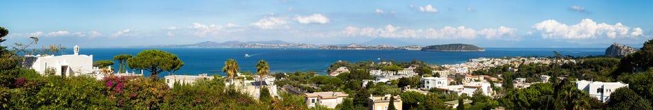 Взгляд Ischia и vivara Стоковая Фотография RF